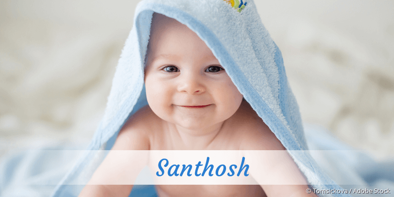 Name Santhosh als Bild
