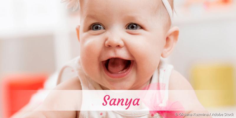 Name Sanya als Bild