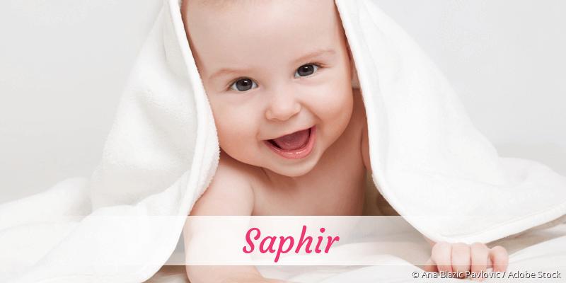 Name Saphir als Bild