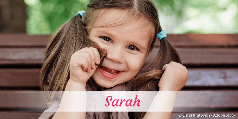 Name Sarah als Bild