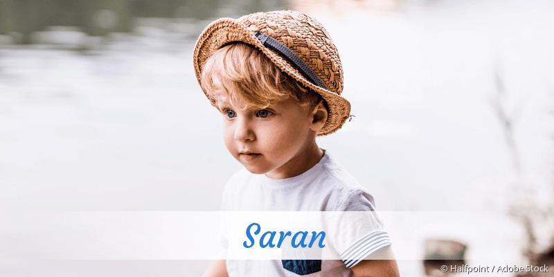 Name Saran als Bild