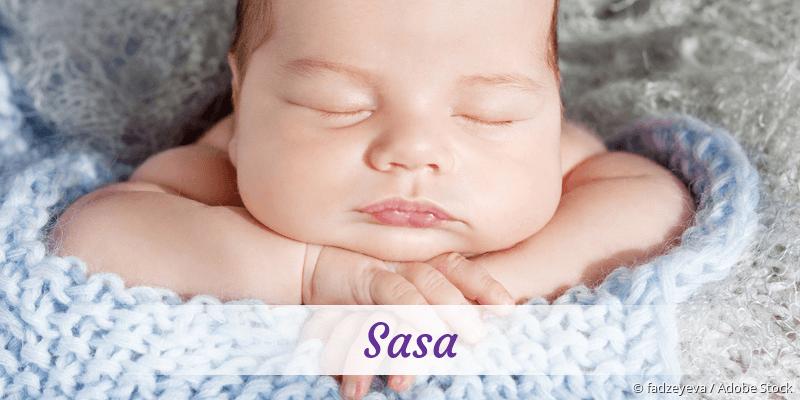 Name Sasa als Bild