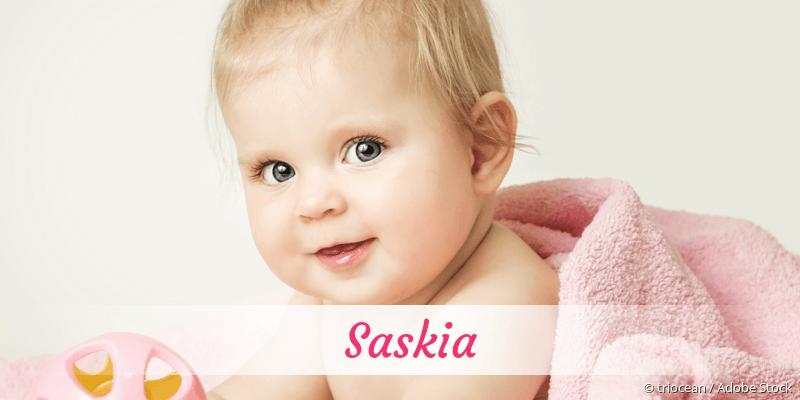 Name Saskia als Bild