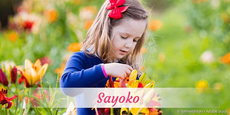 Name Sayoko als Bild