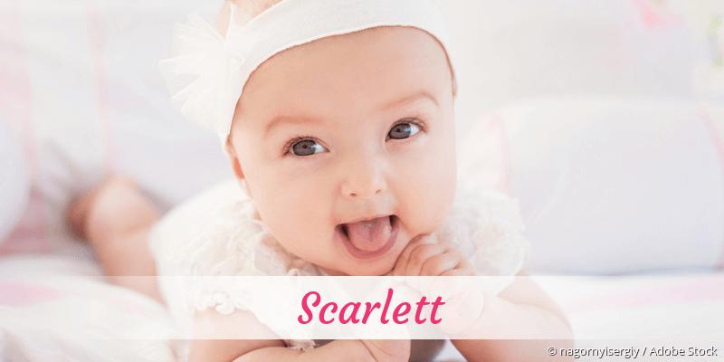 Name Scarlett als Bild