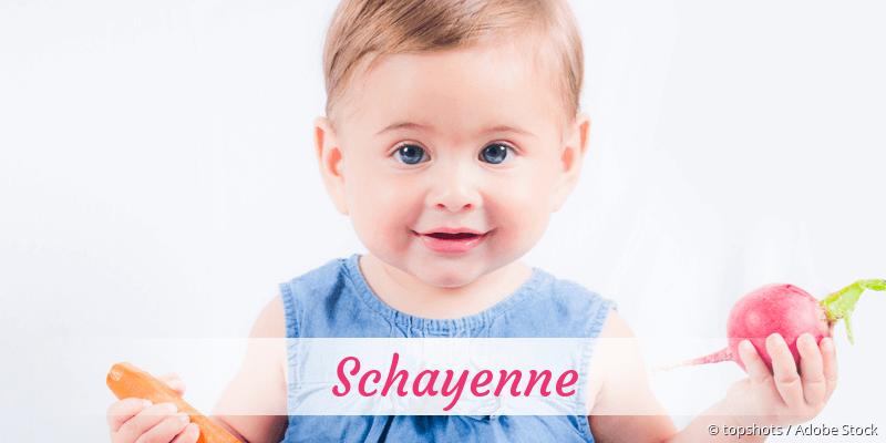 Name Schayenne als Bild
