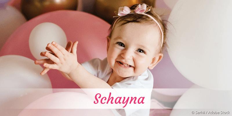Name Schayna als Bild