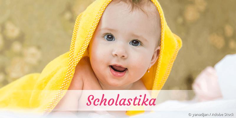 Name Scholastika als Bild