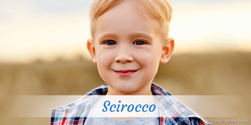 Name Scirocco als Bild