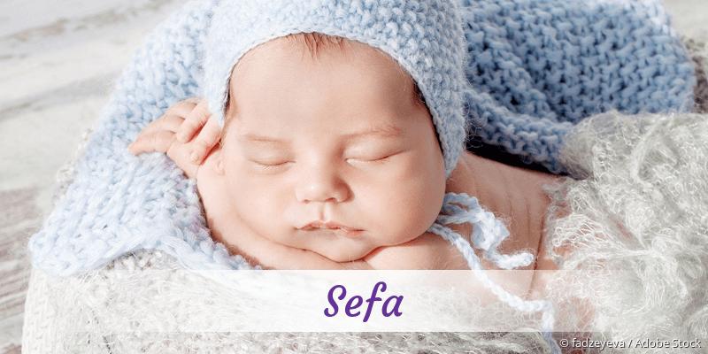 Name Sefa als Bild