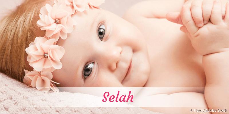 Name Selah als Bild
