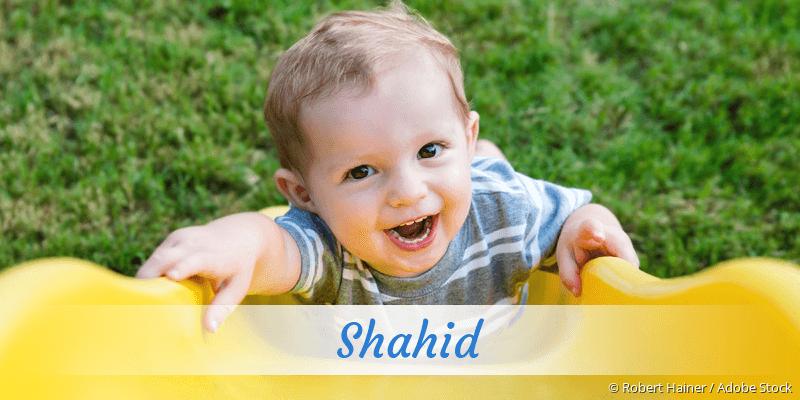 Name Shahid als Bild