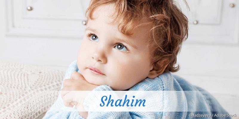 Name Shahim als Bild