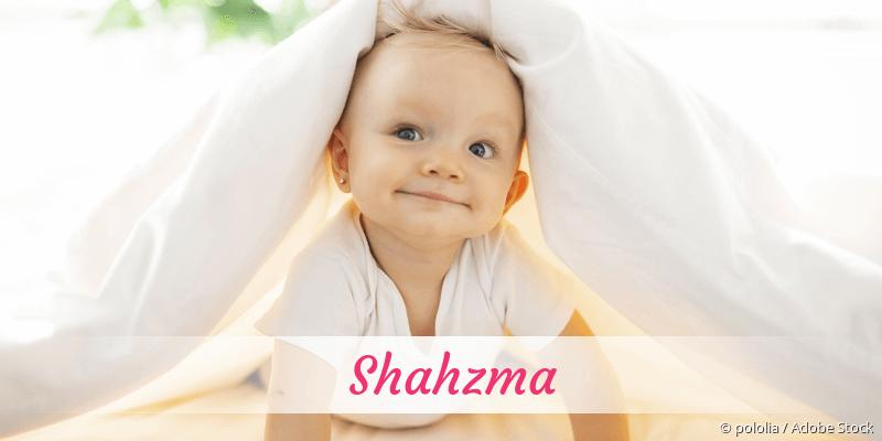 Name Shahzma als Bild