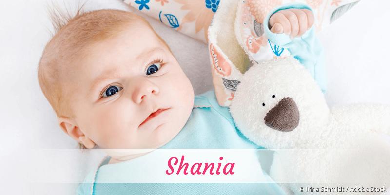 Name Shania als Bild