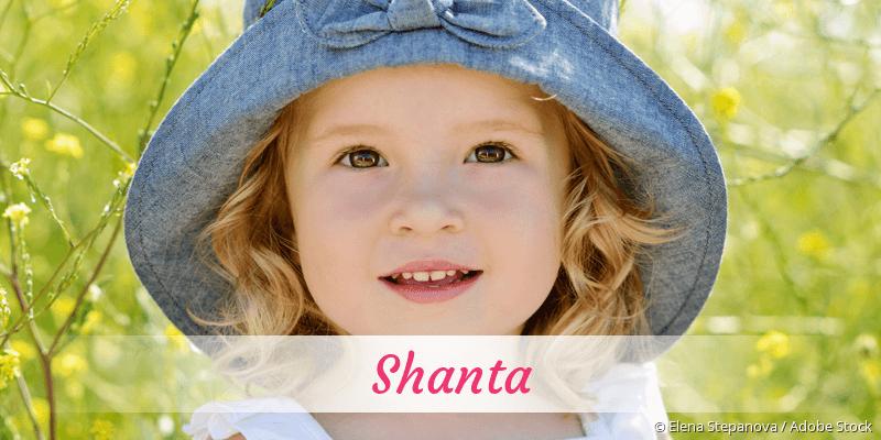Name Shanta als Bild