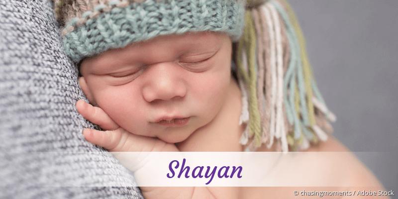 Name Shayan als Bild