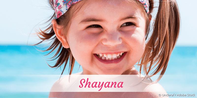 Name Shayana als Bild