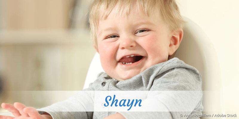 Name Shayn als Bild