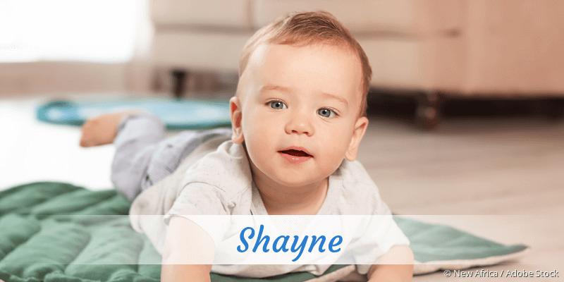 Name Shayne als Bild
