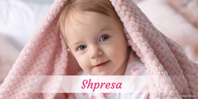Name Shpresa als Bild
