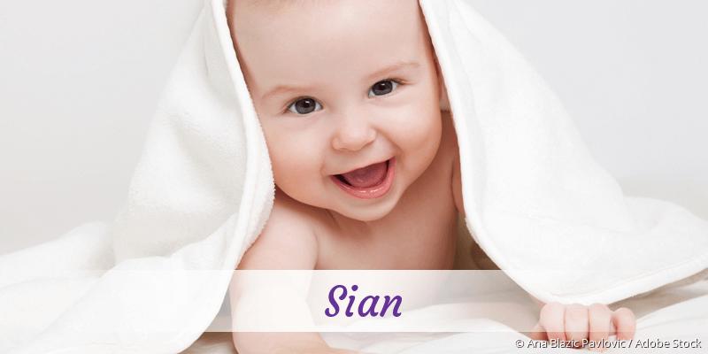 Name Sian als Bild