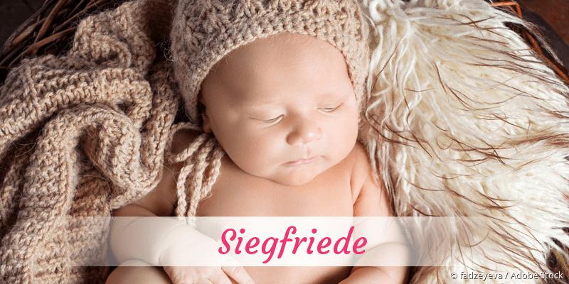 Name Siegfriede als Bild