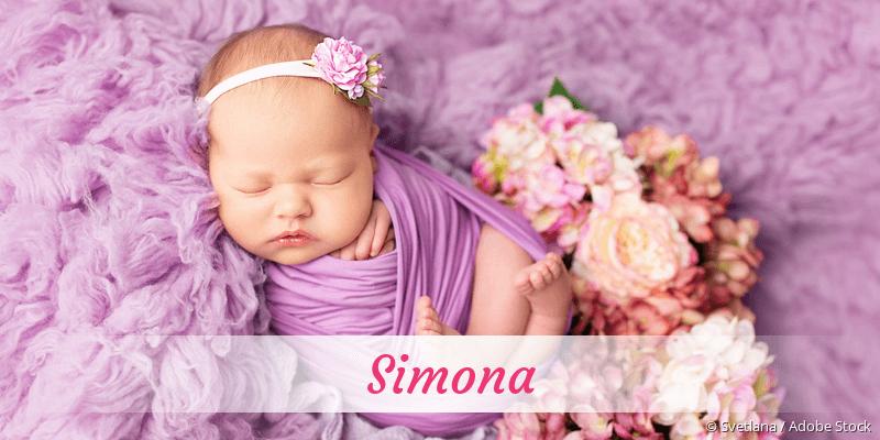 Name Simona als Bild