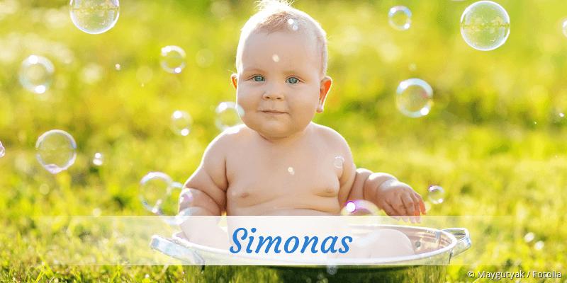 Name Simonas als Bild