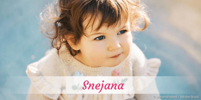 Name Snejana als Bild