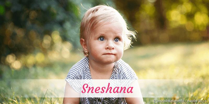 Name Sneshana als Bild
