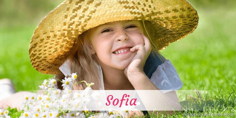 Name Sofia als Bild