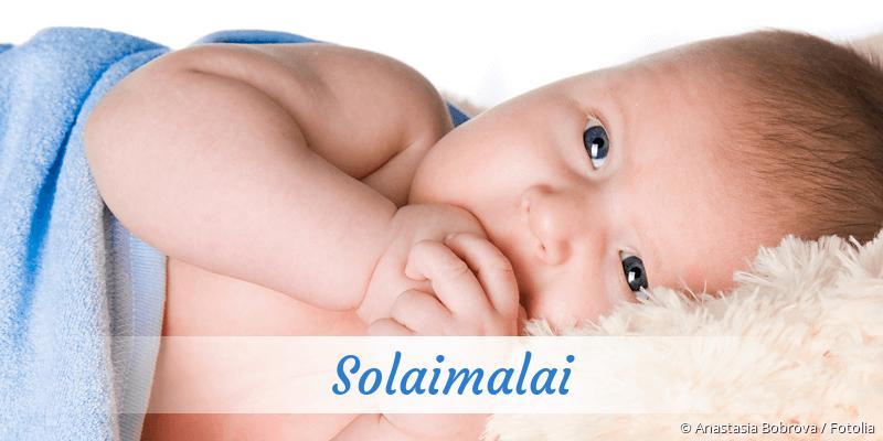 Name Solaimalai als Bild