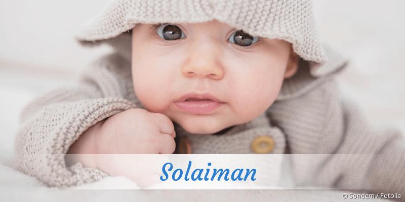Name Solaiman als Bild