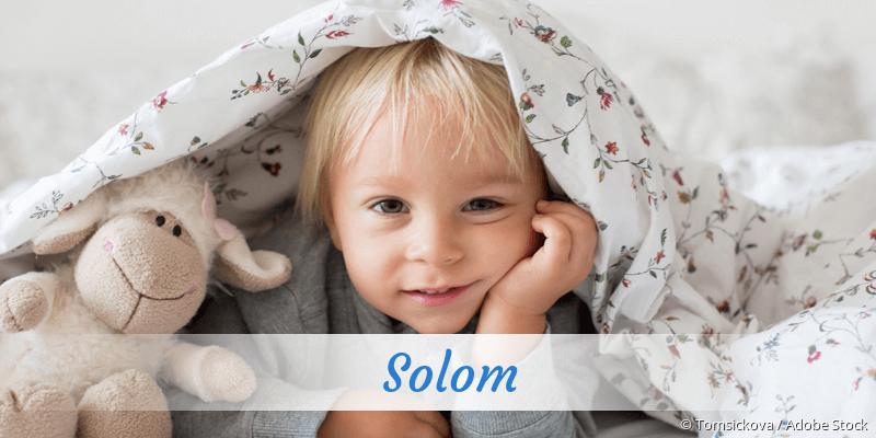 Name Solom als Bild