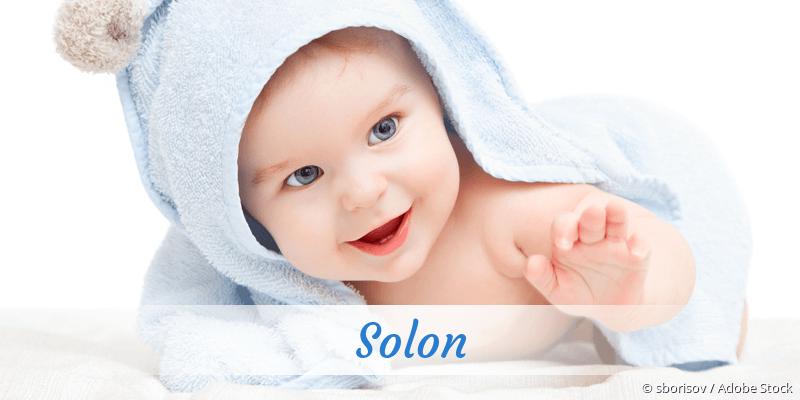 Name Solon als Bild