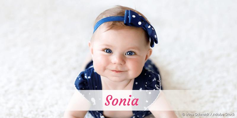 Name Sonia als Bild