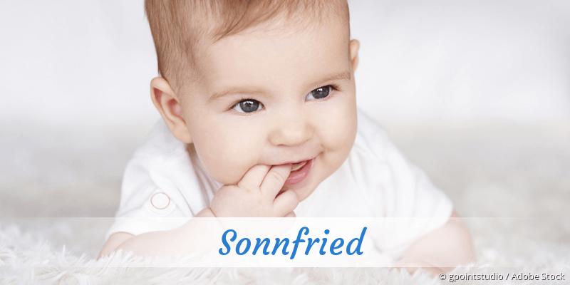 Name Sonnfried als Bild