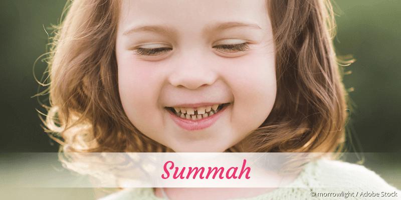 Name Summah als Bild