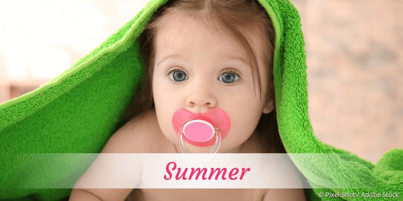 Name Summer als Bild