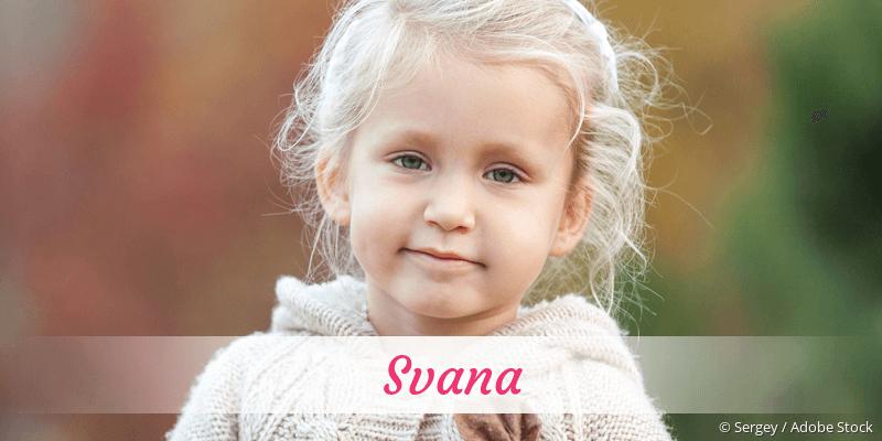 Name Svana als Bild
