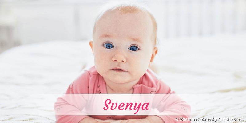 Name Svenya als Bild