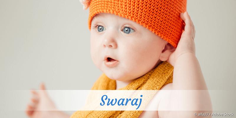 Name Swaraj als Bild