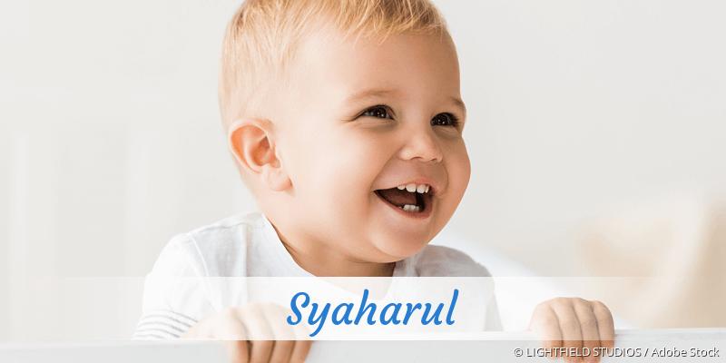 Name Syaharul als Bild