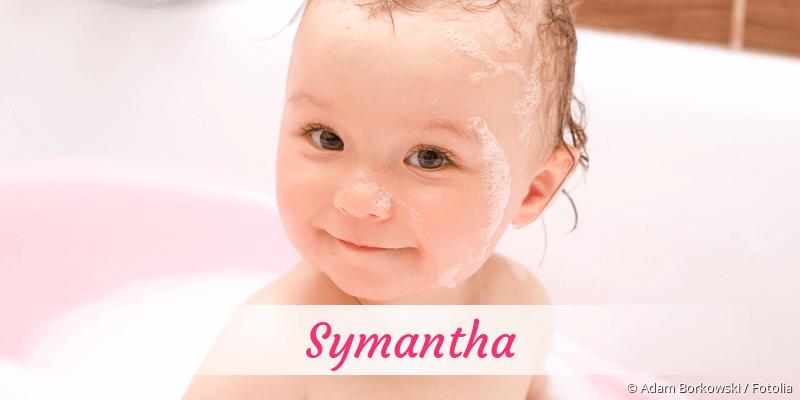 Name Symantha als Bild