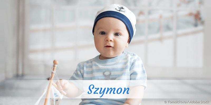Name Szymon als Bild