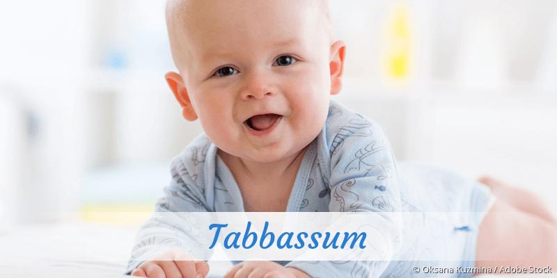 Name Tabbassum als Bild