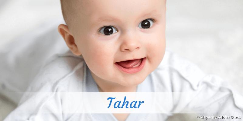 Name Tahar als Bild