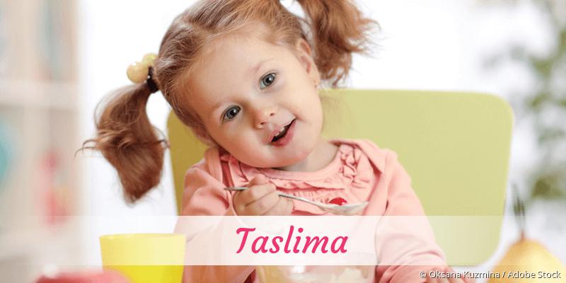 Name Taslima als Bild