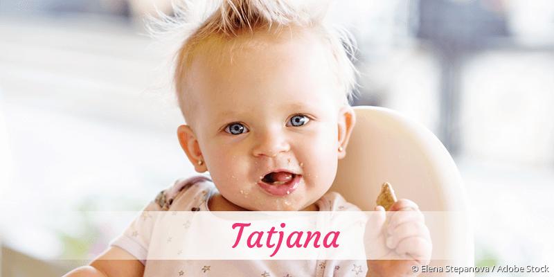 Name Tatjana als Bild